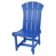 Pawleys Island Solid Colored Sunrise Outdoor Dining Side Chair - SRDC1BLU
