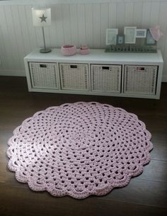 Rugs, Interior, Home Decor, Crochet Carpet, Homemade Home Decor, Indoor, Types Of Rugs, Rug, Decoration Home