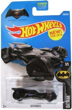 Hot Wheels, 2016 Batman, Batman vs. Superman: Dawn of Justice Batmobile Die-Cast…