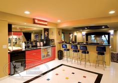 and a home theater concession stand!