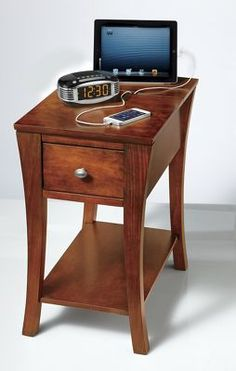 Power outlet side table @ ginnys.com
