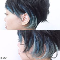 Hair Color And Cut, Haircut And Color, My Hairstyle, Cool Hairstyles, Underdye Hair, Inspo Cheveux, Style Salon, I Like Your Hair, Heart Hair