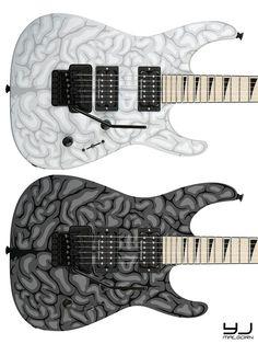 "JACKSON DK2M Dinky Pro ""Brain"" Guitar Custom Designs"