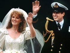 Prince Andrew & Sarah Ferguson:    Lovers since childhood, Prince Andrew and Sarah Margaret Ferguson were married on July 23, 1986, at Westminster Abbey. Comprising a monolithic pool of globally recognized celebrities, this royal wedding marked the presence of thousands of people on the streets of London along with 500 million TV audiences to catch a glimpse of this majestic event.