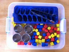 Many busy box activities focusing on fine motor skills