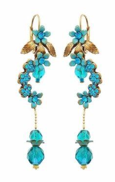 Michal-Negrin-New-Earrings-Swarovski-Crystal-Israel-vintage-style