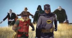 Batman and Robin Running Away. Check source to see awesome animation.