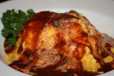 Demiglace sauce omelet