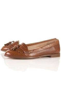 KACY Tan Fringe Loafers - Flats - Shoes - Topshop - StyleSays