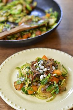 Pan Roasted Brussels Sprouts with Butternut Squash