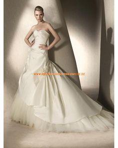 2013 Elegante Brautkleider aus Satin und Softnetz mit schleppe