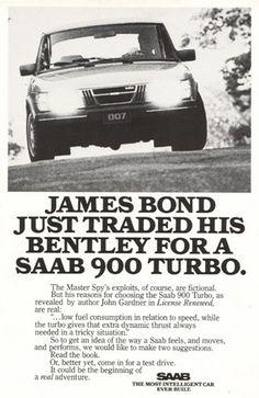 Saab advertising material