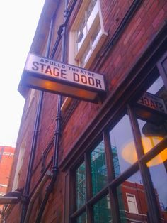 The cast of A Long Day's Journey into Night (at the time of writing) go in and out of the stage door at the Apollo Theatre London.