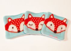 Water bottle pads - Fox Fleece - hedgehog - guinea pig fleece - guinea pig bed - guinea pig pee pad - lap pad