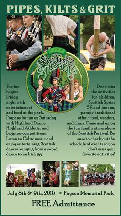 Pipes, Kilts & Grit: Payson Scottish Festival July 8 & 9 | The Payson Chronicle
