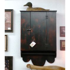 Shabby Chic Primitive Hanging Folk Cupboard  by ShakaStudios, $337.00