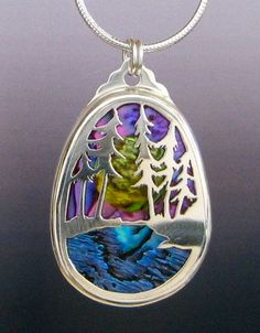 Sterling Silver Custom Landscape Pendant by JewelrybyRC on Etsy