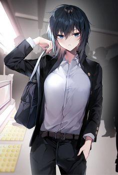 Dark Anime Guys, Cool Anime Girl, Beautiful Anime Girl, Kawaii Anime Girl, Anime Art Girl, Anime Oc, Chica Anime Manga, Anime Neko, Manga Girl