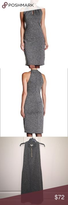 """Max Studio Knit Sleeveless Front Keyhole Dress. Max Studio Knit Sleeveless Front Keyhole Dress. Size Small Armpit to Armpit 16"""" Approx Length 41""""                                                         Square neck - Sleeveless - Front keyhole slit - Midi sheath dress - Approx. 41"""" length  Fiber Content 60% polyester, 30% cotton, 10% rayon Max Studio Dresses Midi"""