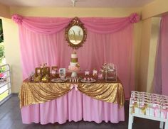 "Princess Pink & Gold / Birthday ""Princess Victoria is turning ONE"" 