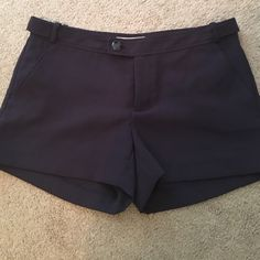 Banana republic Ryan for shorts Purple shorts only tried on, never worn. Doesn't fit me. Cute button detail. Color may be different than pictures due to lighting Banana Republic Shorts