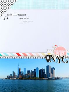 NYC | Scrapbooking Layout | Felicity Jane Juni Kit