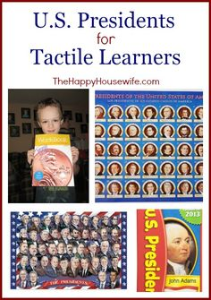 Presidents for Tactile Learners - The Happy Housewife™ :: Home Schooling Study History, Presidents Day, Home Schooling, Founding Fathers, School Teacher, Kids And Parenting, Diy For Kids, Elementary Schools, Housewife
