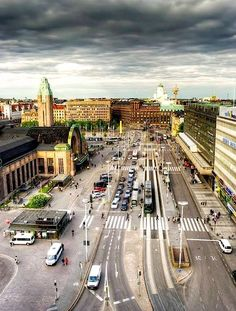 Helsinki, Finland - Visited in 2005 - It is the Capital and largest city of Finland. The main railroad Station can be seen on the left. Visit Helsinki, Finland Travel, Wonders Of The World, Denmark, Night Life, Alaska, Norway, Places To Visit, Around The Worlds