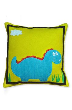 adorable dino decorative pillow http://rstyle.me/n/w837dr9te