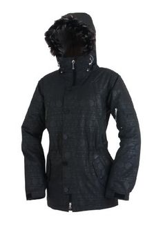 Betty Rides Women's All Mountain Surplus Jacket, Black Emboss, X-Large by Betty Rides. $274.95. 10k Laminate, Strong Soft and Durable Twill Weave Polyester Shell Fabric and Long Military Pockets and Styling, Removable Faux Fur On Hood, Media Pocket