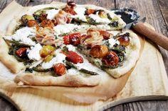Garlic Scape and Burrata Pizza