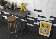 Las 10 tendencias que 'mandarán' en Cersaie 2017 Brick Effect Tiles, Tile Design, Drafting Desk, Your Space, Flooring, Contemporary, Interior Design, Kitchen, House