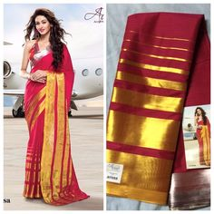 """Weekend saree sale"" Pls call/whatsapp +919600639563. Code: ddc red Price: 2799/- Material: Soft cotton. For booking and further details pls call or whatsapp us at +919600639563. Happy shopping y'all :) Be Beautiful :)"