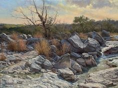 River Boulders by Mark Haworth Oil ~ 30 x 40