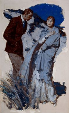 llustration by Saul Tepper (American, 1899-1987) - Couple Standing in Dunes, McCalls magazine story i