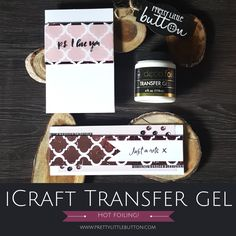 iCraft Transfer gel is a great medium to add foil to your projects and when combined with stencils, can create stunning backgrounds!