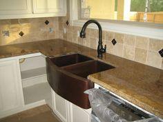 copper farm house sink