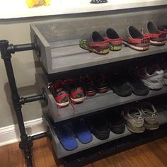 33 Nice Industrial Shoe Rack Design Ideas - The over door shoe rack is the most spacious solution for efficient shoe storage. These useful racks fit wonderfully at the back of the door making us.
