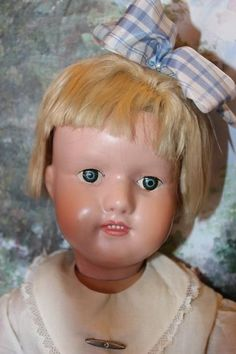 """20"""" tall Schoenhut Miss Dolly Larger size, original wig, Gorgeous Perfect Face!"""