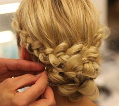 DIY Monique Lhuillier Fall 2014 Braided Bridal Hairstyle