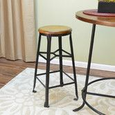 "Found it at Wayfair - Weston 30"" Bar Stool Overall: 30"" H x 16"" W x 14.75"" D Overall Product Weight: 17lbs Distressed: Yes  $85"
