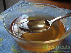 Vanilla Sugar Syrup-1 cup sugar — $0.35, 1 tsp vanilla extract — $0.35, 1 cup water, Total: $0.70 (Can even make it sugar-free w/ Splenda)