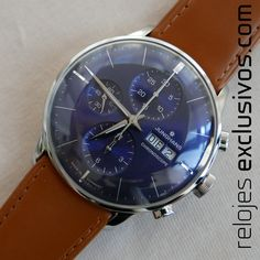 Junghans Meister Chronoscope watch Man size for sale at Relojes Exclusivos, watches store of the finest brands. Junghans, Omega Watch, Chronograph, Watches For Men, Accessories, Store, Hair, Automatic Watch, Crocodile