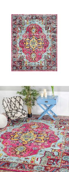 Dream in color. Pair your beloved bed or favorite chaise with this lively Neisha Rug, and prepare for more exhilarating evenings. Gorgeously inspired by traditional Southwestern patterns, this vibrant ...  Find the Neisha Rug, as seen in the Textile Collection at http://dotandbo.com/category/decor-and-pillows/rugs/textile?utm_source=pinterest&utm_medium=organic&db_sku=123868