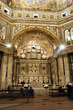Interior of the baptistry, Florence Italy