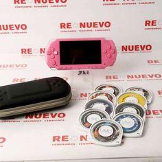 PSP 1004 rosa + 9 juegos de segunda mano E278449 | Tienda online de segunda mano en Barcelona Re-Nuevo