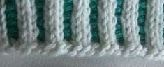 two-color knitted ribbing with German Twisted cast on