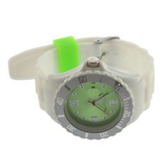 Lovely Green & White Girls Ladies Women's Jelly Silicone Wrist Watch 449 #unbranded #Casual