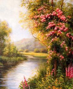 Pinturas de Sergey Minaev - (Russo) Série Jardins - Pinturas do A'Uwe Mais