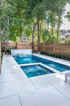 Having a pool sounds awesome especially if you are working with the best backyard pool landscaping ideas there is. How you design a proper backyard with a pool matters. Pool Spa, Swimming Pool Landscaping, Small Swimming Pools, Swimming Pool Designs, Backyard Landscaping, Landscaping Ideas, Backyard Patio, Small Yard Pools, Pool And Patio